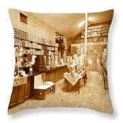 1925 Irish Shoe Store Throw Pillow