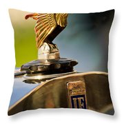 1925 Isotta Fraschini Tipo 8a S Corsica Boattail Speedster Hood Ornament Throw Pillow by Jill Reger