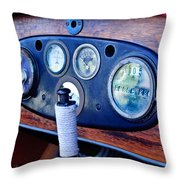 1925 Stutz Series 695h Speedway Six Torpedo Tail Speedster Dashboard Instruments Throw Pillow