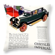 1926 - Chrysler Imperial Convertible Model 80 Automobile Advertisement - Color Throw Pillow