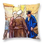 1926 - French Tourism Poster - Color Throw Pillow