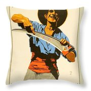 1926 - Lugwig Hohlwein  - Monopol La Falce - Italian Poster - Color Throw Pillow