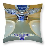 1926 Duesenberg Model A Boyce Motometer Throw Pillow