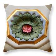 1926 Flower Throw Pillow