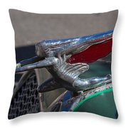 1926 Rat Rod Hood Ornament Throw Pillow