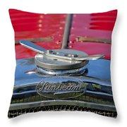 1926 Sunbeam Tiger Hood Emblem Throw Pillow