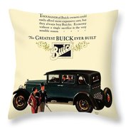 1927 - Buick Automobile - Color Throw Pillow