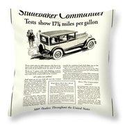1927 - Studebaker Commander Automobile Advertisement Throw Pillow