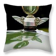 1927 Chandler 4-door Hood Ornament Throw Pillow by Jill Reger