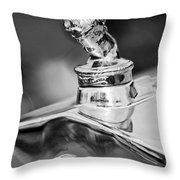 1927 Franklin Sedan Hood Ornament 2 Throw Pillow by Jill Reger