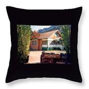 1927 Pendley Homestead House Sedona Throw Pillow