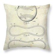 1928 Baseball Patent Drawing  Throw Pillow