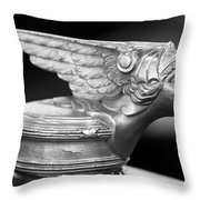 1928 Buick Custom Speedster Hood Ornament 3 Throw Pillow by Jill Reger