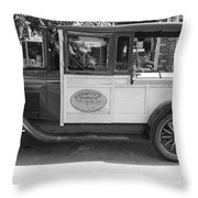 1928 Chevy Half Ton Pick Up In Black And White Throw Pillow