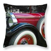 1928 Hupmobile Century Model E4 4 Door Sedan Throw Pillow