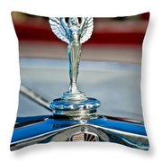 1928 Nash Coupe Hood Ornament 2 Throw Pillow