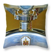 1928 Pierce-arrow Hood Ornament Throw Pillow