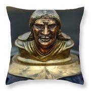 1928 Pontiac Hood Ornament  Throw Pillow