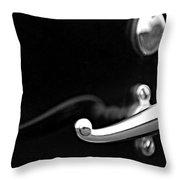 1928 Rolls-royce Phantom 1 Door Handle Black And White Throw Pillow