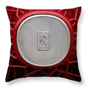 1928 Rolls-royce Phantom I Sedenca De Ville Wheel Emblem Throw Pillow