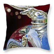 1928 Studebaker Hood Ornament 2 Throw Pillow by Jill Reger