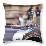 1928 Vintage Chrysler 72 Series - Hood Ornament Throw Pillow