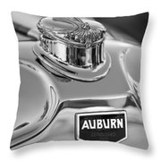 1929 Auburn 8-90 Speedster Hood Ornament 2 Throw Pillow by Jill Reger