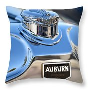 1929 Auburn 8-90 Speedster Hood Ornament Throw Pillow