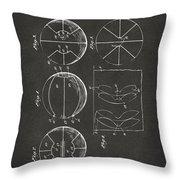 1929 Basketball Patent Artwork - Gray Throw Pillow by Nikki Marie Smith