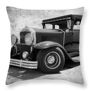 1929 Buick Black And White Throw Pillow