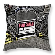 1929 Ford Model A For Sale Throw Pillow