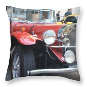 1929 Mercedes Benz Front And Side View Throw Pillow