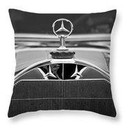 1929 Mercedes-benz S Erdmann - Rossi Cabiolet Hood Ornament Throw Pillow
