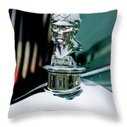 1929 Minerva Hood Ornament Throw Pillow