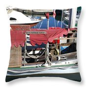 1929 Water Taxi Throw Pillow