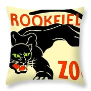 1930 - Brookfield Zoo Poster - Boston - Color Throw Pillow