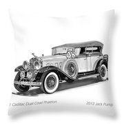 1931 Cadillac Phaeton Throw Pillow by Jack Pumphrey