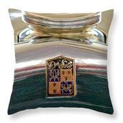 1930 Desoto K Hood Ornament Emblem Throw Pillow