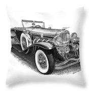1930 Duesenberg Model J Throw Pillow by Jack Pumphrey