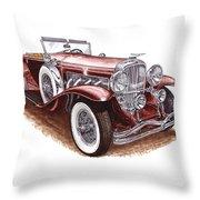 1930 Dusenberg Model J Throw Pillow