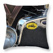 1930 Ford Model A - Front End - 7497 Throw Pillow