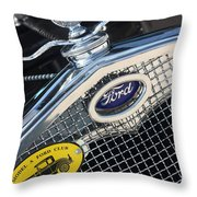 1930 Ford Model A - Radiator N Grill - 7479 Throw Pillow