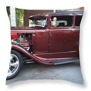 1930 Ford Two Door Sedan Side View Throw Pillow
