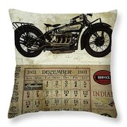 1930 Indian 402 Throw Pillow by Cinema Photography