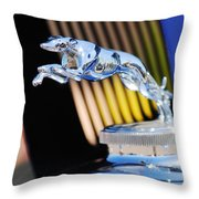 1930 Lincoln L Judkins Berline Hood Ornament Throw Pillow