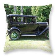 1930 Model-a Town Car 1 Throw Pillow