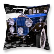 1930 Packard Limousine Throw Pillow