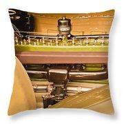1930 Packard Speedster Runabout Engine -0539c Throw Pillow