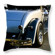 1930 Plymouth Bumper And Tail Light Throw Pillow