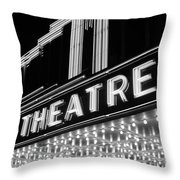 1930s 1940s Theater Marquee Theatre Throw Pillow
